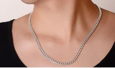 2-12mm Men's Stainless Steel Silver 316L Curb Link Chain Chunky Necklace 3