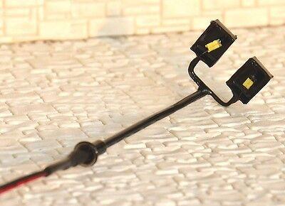 S147-10 Stück Lampen moderne Straßenlampen 2-flammig 9,5cm Peitschenleuchten