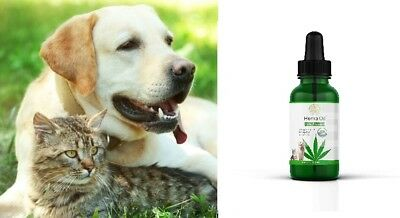 Hemp oil for Dogs Cats Pet Organic Supplement Anxiety Relief Joint Pain Natural 3