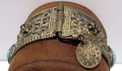 BEAUTIFUL ANTIQUE 1800s'.SILVER BRACELET in 2 PARTS,AMAZING FILIGREE # 547 2