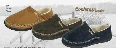 MENS COOLERS FULL FOOT SLIPPERS OUTDOOR SOLE SIZES 7 to 12 FREE POST  NEW 4
