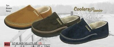 MENS COOLERS FULL FOOT SLIPPERS OUTDOOR SOLE SIZES 7 to 12 FREE POST  NEW 3
