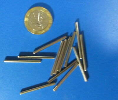 Stainless Steel.Metric Slotted Spring Pin, M2 Dia x 30 mm Length, 50 pcs 10