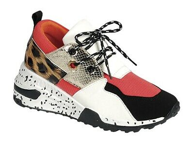 NEW WOMENS ATHLETIC Chunky Wedge Sneakers Casual Comfort Fashion Shoes Lace Up