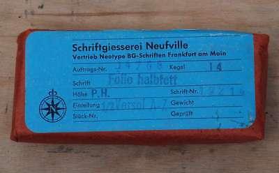 """""""14p Folio halbfett"""" Bleischrift NEU+OVP  Bleisatz Buchdruck Handsatz Ducker 2"""