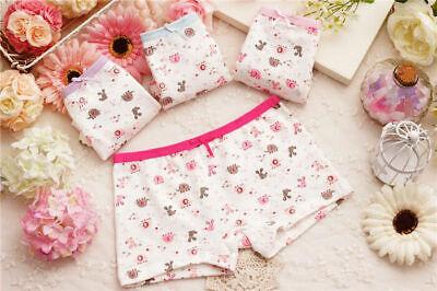 4 Pack Girls Boxer Shorts Underwear Briefs Cotton Knickers Age 2 4 5 6 7 8 9 Yrs 12