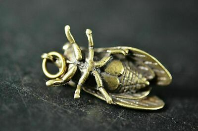 Collection Chinese Brass Copper *Cicada* Lucky Pendant  h494 6