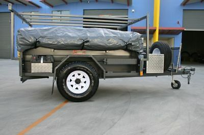 Travel Cover For Camper Trailer Tent, Universal Fit For Most Models,2.3x1.75(M) 6
