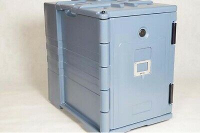 Insulated Food Carrier Outdoor Food Delivery Cabinet  with Three Pan 90L Gray 7