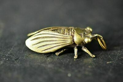 Collection Chinese Brass Copper *Cicada* Lucky Pendant  h494 3