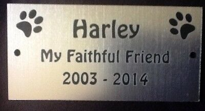 Personalised Pet Memorial Plaque with Dog Paw Prints - Various Colours 4 • EUR 5,40