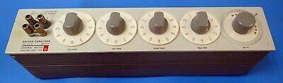GENERAL RADIO 1412-BC DECADE CAPACITOR 15pF TO 1.11115uF GREAT FOR A TEST LAB 8