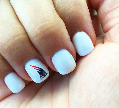 NEW ENGLAND Patriots Nail Art Stickers Transfers Decals Set of 48 ...