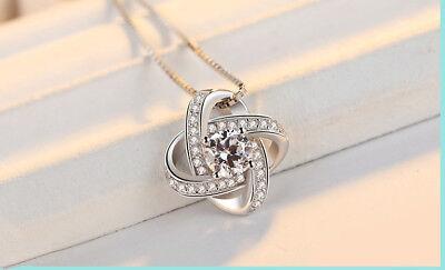 925 Sterling Silver Swirl Pendant Chain Necklace Stud Earrings Womens Jewellery 3