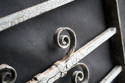57x15 Antique Vintage Steel Iron Metal Fence Gate Door Panel Window Guard Grille 5
