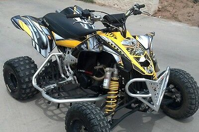 CAN AM DS450 graphics DS 450 Custom Racing Sticker kit #7777 Yellow ...