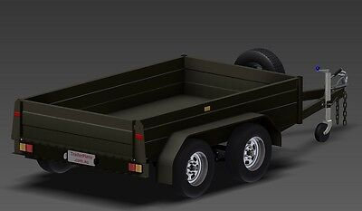 Trailer Plans - TANDEM AXLE BOX TRAILER PLANS - 3 sizes included - PLANS ON USB 6