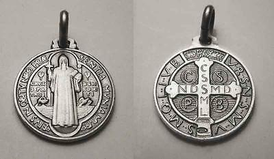 St. Benedict Medal Sterling Silver (925) - 16mm - Italy 2