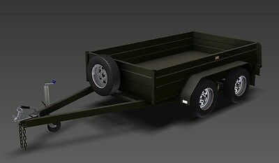Trailer Plans - TANDEM AXLE BOX TRAILER PLANS - 3 sizes included - PLANS ON USB 7