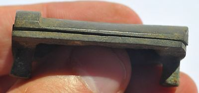19th Century Europe Relic Find Solid Bronze Detail Sliding Key Hole Cover 10