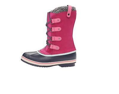 Authentic Sorel Youth Joan of Arctic NY #1858-013 Girls Winter Snow Boots Black