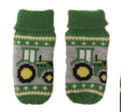 1X John Deere Toddler Green Tractor Knit Pom Beanie Toboggan Hat /& Mittens 2-4Yr