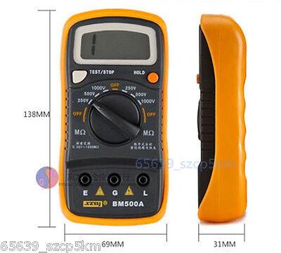 Resistance Tester BM500A 1000V 1999M Digital Insulation Meter Megohmmeter Megger 3