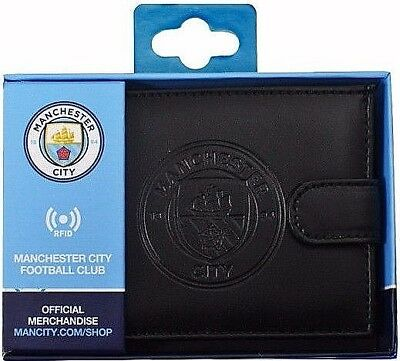 Debossed Crest Rfid Real Leather Football Club Sports Boxed Money Wallet Purse 8