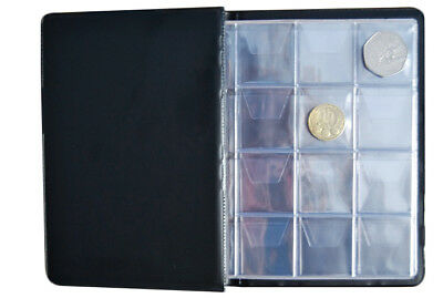 COLLECTOR BLACK COIN ALBUM for 96 coins perfect for 50p and £1 €1 €2 BOOK /BL01 3