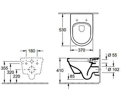 v b villeroy boch omnia architectura wc ohne sp lrand sp lrandlos wei o c. Black Bedroom Furniture Sets. Home Design Ideas