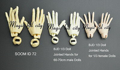 BJD 1//3 Doll Jointed Hands for 60-70cm male Dolls free shipping