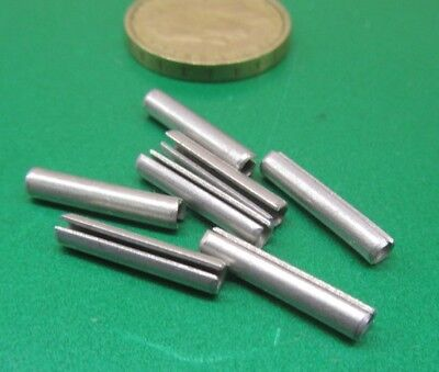 """Zinc Plate Steel, Slotted Roll Spring Pin, 1/8"""" Dia x 11/16"""" Length, 250 pcs 4"""