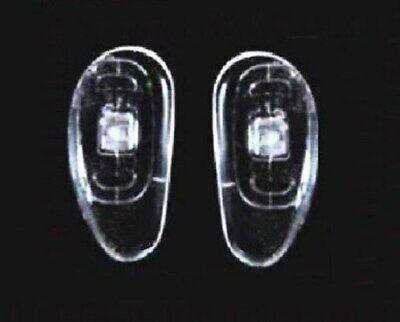 Nasenpads für Brillen Nierenförmig Schraub-System 15 mm zum selber Austauschen 9