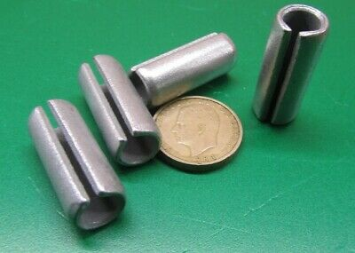 "Zinc Plate Steel Slotted Roll Spring Pin, 1/2"" Dia x 1 1/4"" Length, 20 pcs 4"