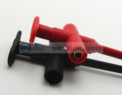 Insulation Piercing Clip Test Probe 4mm Banana Jack Spring Loaded Copper