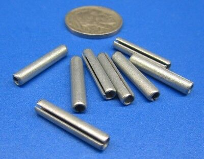 """Zinc Plate Slotted Roll Spring Pin, 9/64"""" Dia x 3/4"""" Length, 100 pcs 7"""
