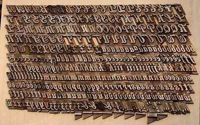 Prägeschrift 16 mm Messingschrift Buchbinder Messing Buchbinden Vergoldepresse 2