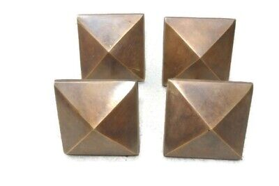 "10 brass STUDS door solid heavy furniture boxes vintage age old style 2"" decor 4"