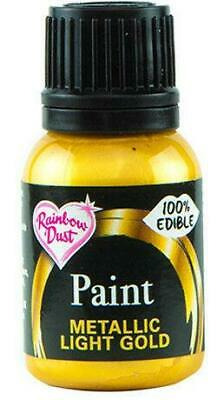 Edible food paint Metallic Silver Gold Cake Decorating 5