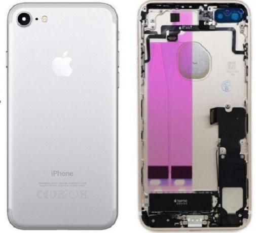 Châssis/Coque arrière pré montée iPhone 7 Or/Argent/Noir/mat/Rouge 4