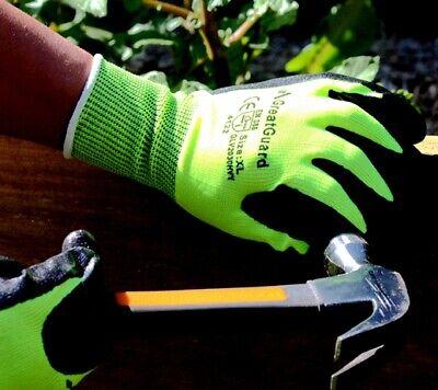 Work Gloves Foam Nitrile Coated Safety General Purpose Garden 12 Pairs 10