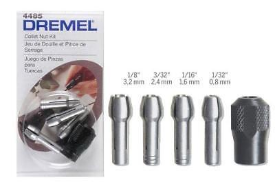Dremel 4485 Collet Nut Kit & Collets 480 481 482 483 2