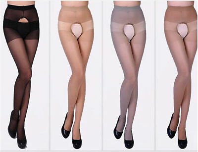 Sexy Men's Crotchless Pantyhose Sheer Bottomless Tights Pants Clubwear Underwear 12