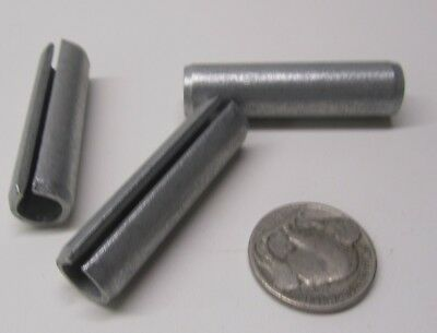 "Zinc Plate Steel Slotted Roll Spring Pin, 7/16"" Dia x 1 3/4"" Length,  25 pcs 10"