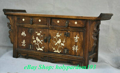 """23"""" Old Chinese Huanghuali Wood Dynasty Drawer Classical Cupboard Cabinet Desk 5"""
