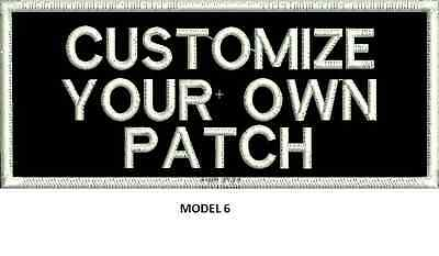 """LOGO CUSTOMIZED EMBROIDED  PATCH   4"""" X 2""""  text only 6"""