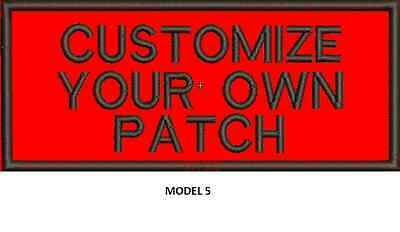 """LOGO CUSTOMIZED EMBROIDED  PATCH   4"""" X 2""""  text only 5"""