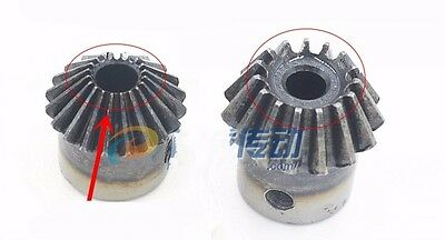 1M20T Bevel Gear 1.0 Mod 20 Tooth 90° Pairing Bore 5/6/6.35/8mm Bevel Gear x1Pcs