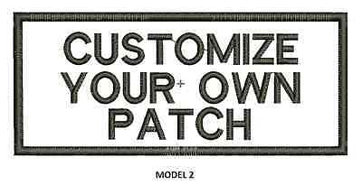"""LOGO CUSTOMIZED EMBROIDED  PATCH   4"""" X 2""""  text only 2"""