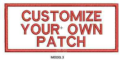 """LOGO CUSTOMIZED EMBROIDED  PATCH   4"""" X 2""""  text only 3"""